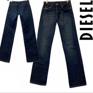 Diesel Classic Wash Straight Leg Buttonfly Jeans